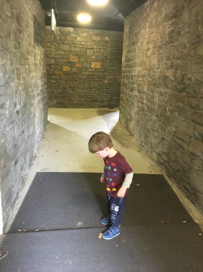 Our-weekly-journal-29th-may-2017-toddler-in-tunnels-at-cardiff-castle