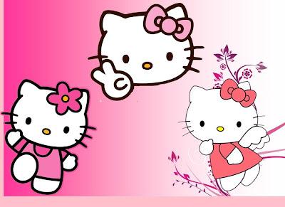 Wallpaper Dinding 3d Ruang Tamu Gambar Kartun Hello Kitty Gambar Pemandangan