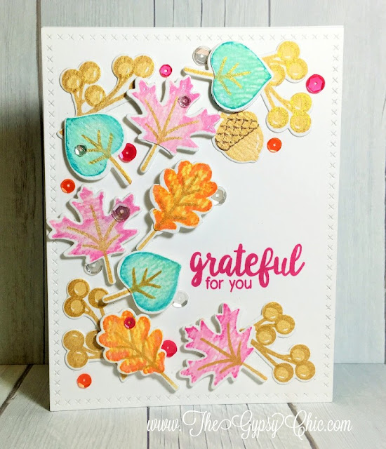 Sunny Studio Stamps: Autumn Splendor Fall Leaves Cards by Challenge Winner Stephanie Davis.