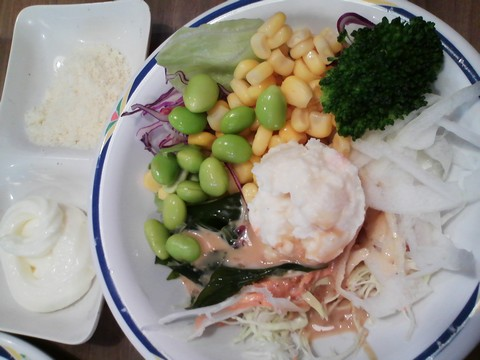 サラダ1 ステーキガスト一宮尾西店11回目