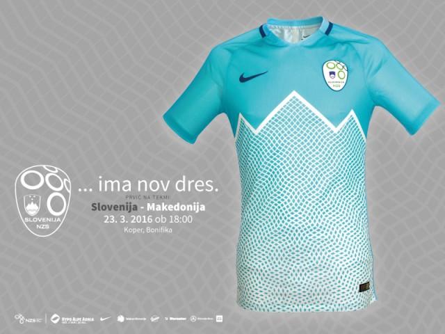 A nova camisa titular da Seleção Eslovena troca a tradicional cor branca  pela moderna azul turquesa 906275807144f