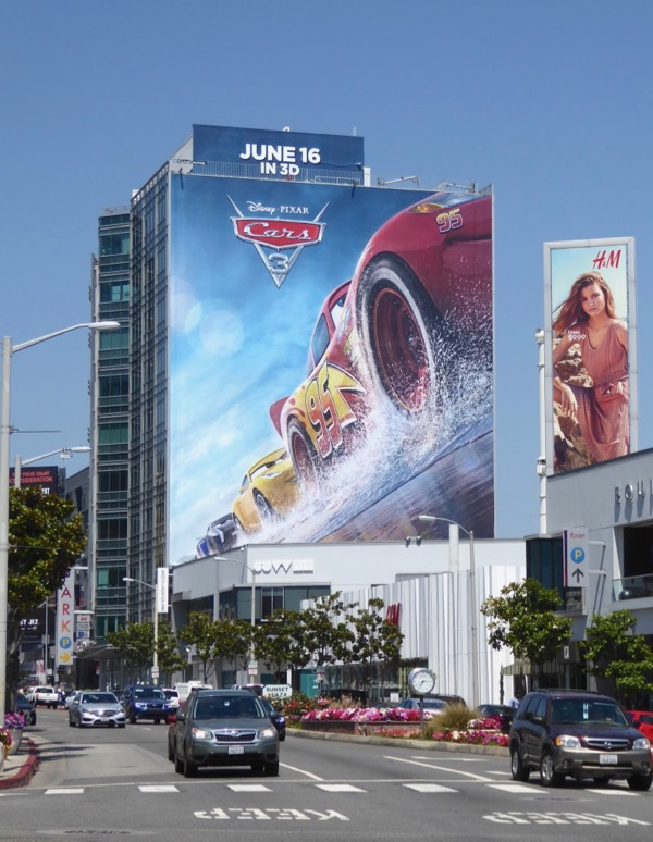 Giant Cars 3 movie billboard