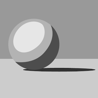 The area of the sphere that transitions from the light side to the shadow side of the sphere is the mid-tone area.