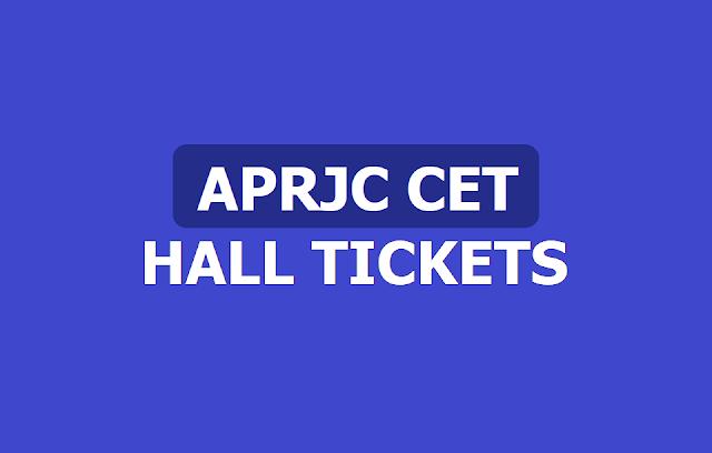 APRJC CET Hall Tickets 2019 /APRJC Admission test hall tickets 2019