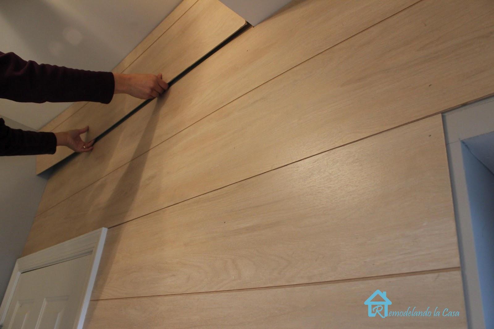 Shiplap Walls - Remodelando la Casa