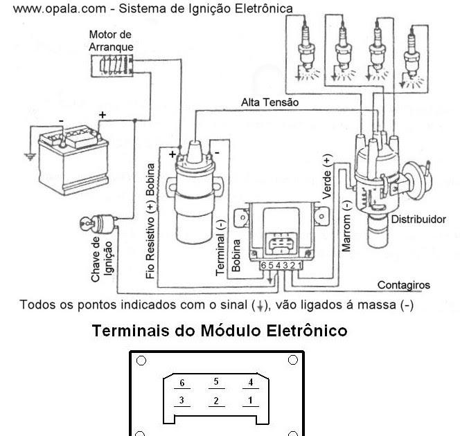 Eletrônica Campo Elétrico : Esquema elétrico do módulo