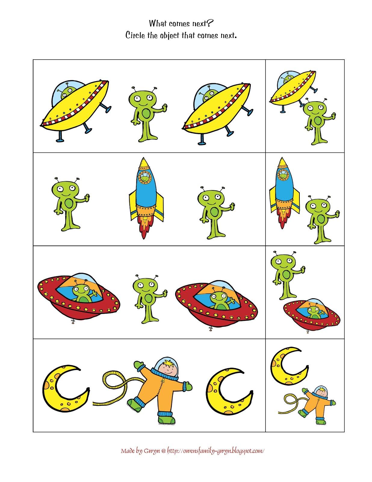 Astronaut Worksheet Preschool