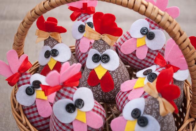 текстильная курица