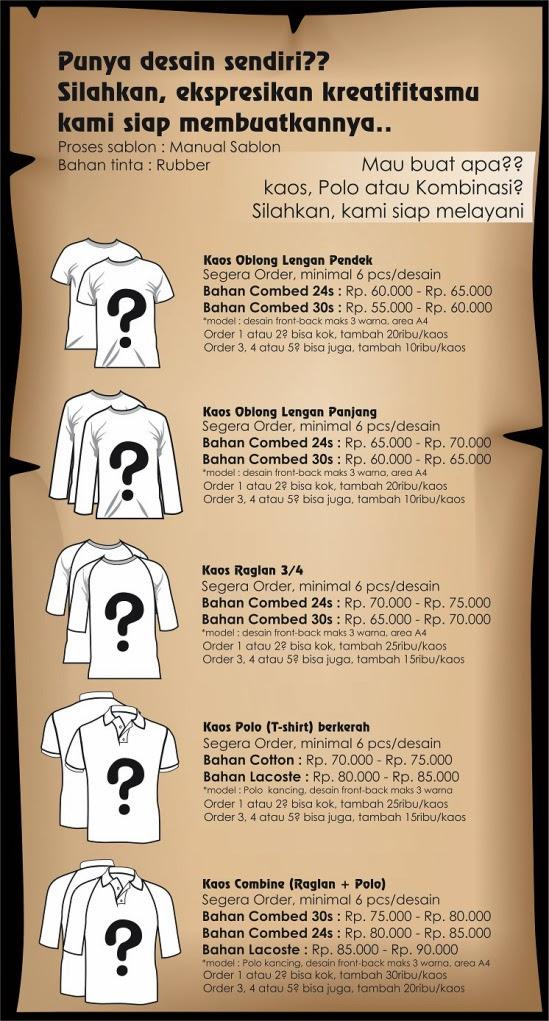 Jasa Sablon Kaos Berkualitas di Tuban Alfin - 0856 4607 2071