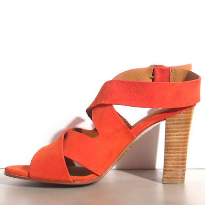 Rivecour sandales à talons orange