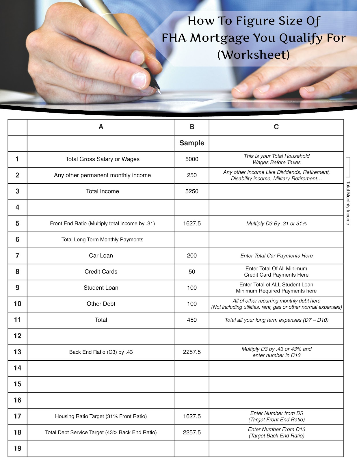 Excel Templates Mortgage Qualification Worksheet