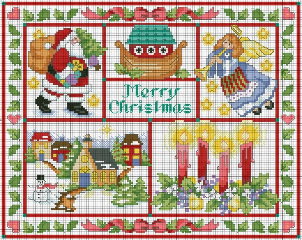 Babbo Natale Punto Croce Schemi Gratis.Sampler A Punto Croce Con Babbo Natale Schemiapuntocroce It