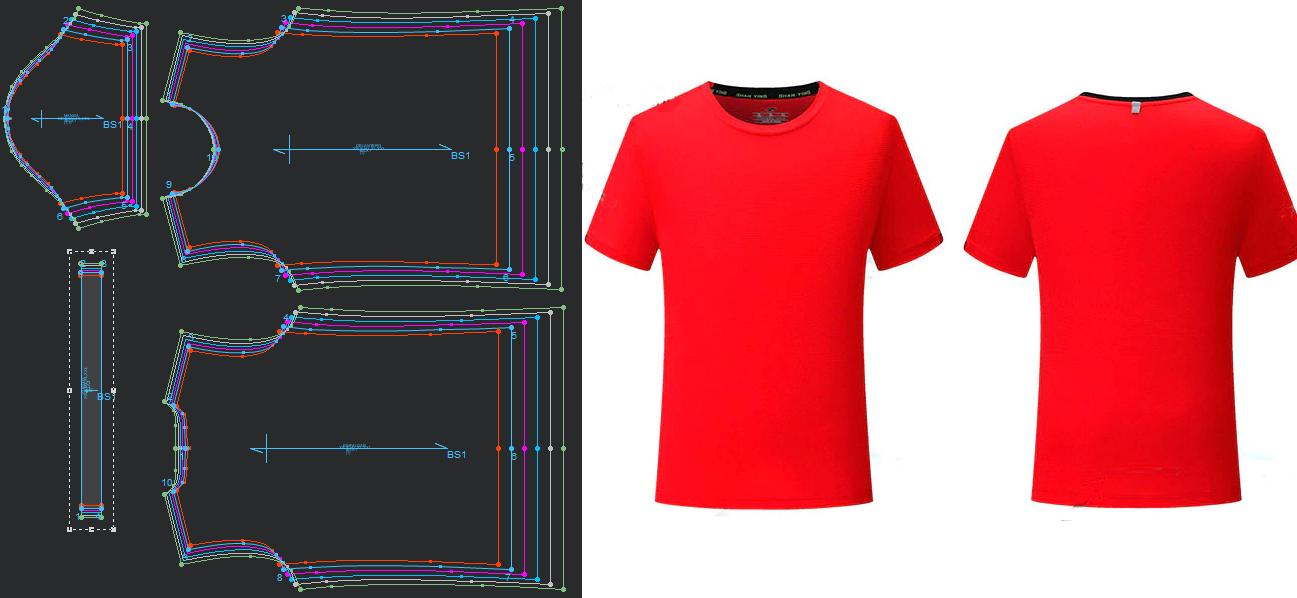0cf3a1bf4 Moldes patrones para hacer camisetas básico de fútbol - prendas deportivos