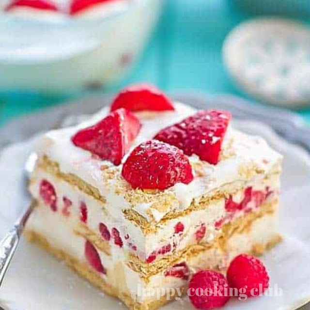 Strawberry Cream Chesse Icebox Cake