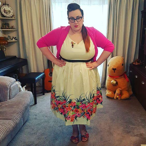 Lindy Bop Lana Watermelon plus size dress