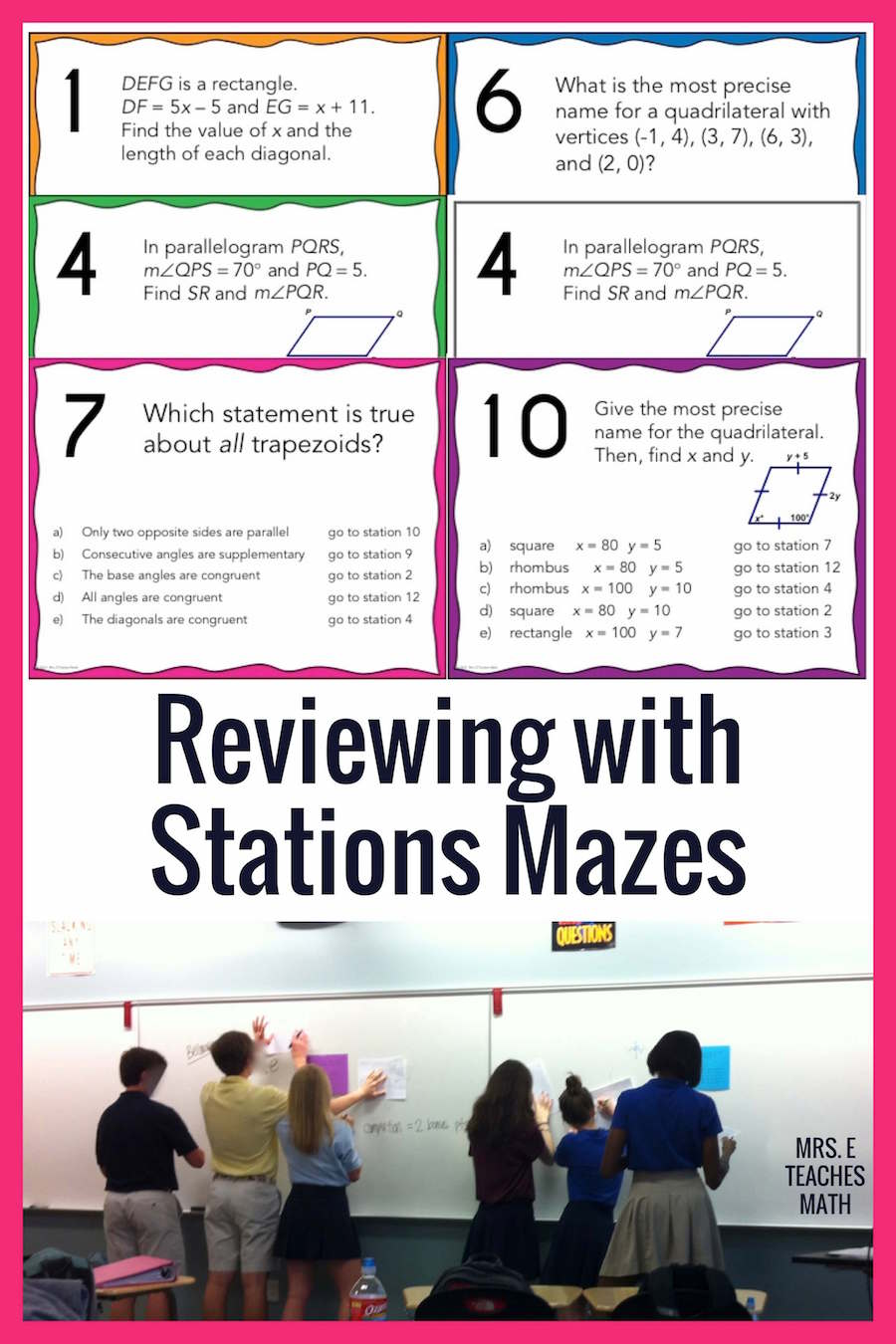 reviewing with stations mazes mrs e teaches math