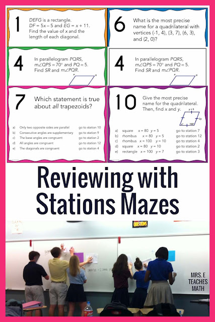 I love helping my math students review by using stations mazes!  It's the perfect hands on way to keep middle and high school students engaged.  They are perfect to use the day after the notes or lesson.  This post has a FREE polynomials stations maze for Algebra 2.  It is perfect to use at the end of a polynomial functions unit.