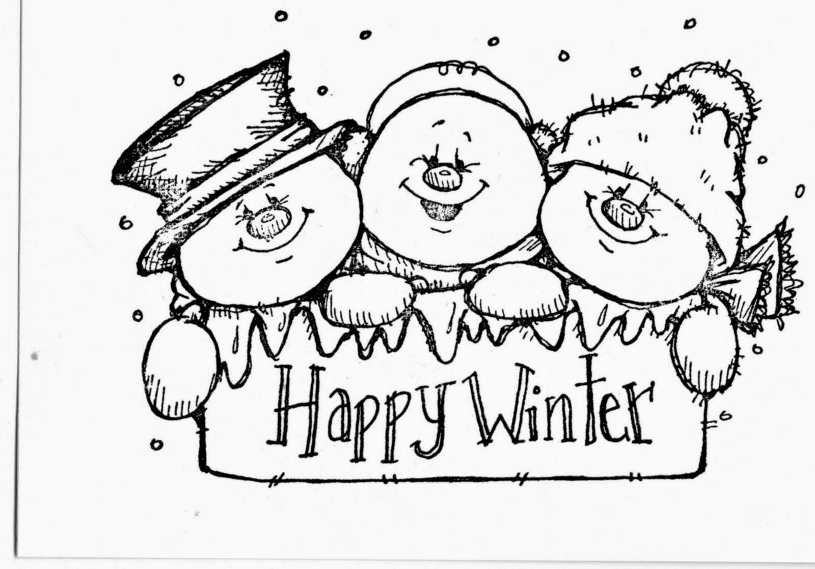 Cute Snowmen Free Printable Coloring Pages. | Oh My Fiesta! in english