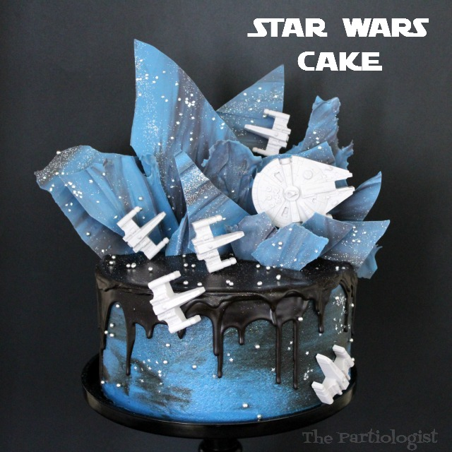 Star Wars Wedding Cake With Sunflowers: The Partiologist: Star Wars Cake