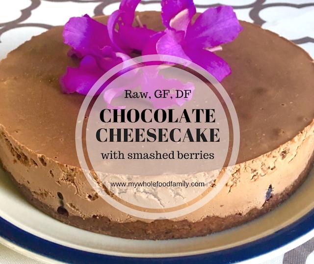 Raw, gluten free, dairy free chocolate cheesecake - www.mywholefoodfamily.com