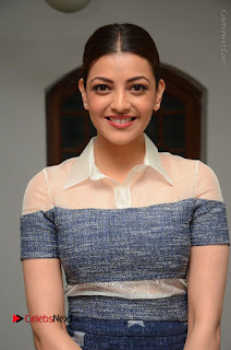 Actress Kajal Agarwal Latest Stills at Khaidi No 150 Movie Interview  0015.JPG