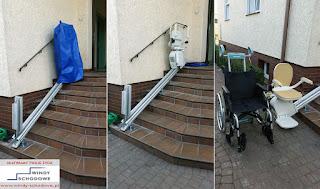 Używane zewnętrzne krzesełko schodowe