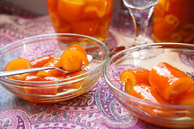 Γλυκό του Κουταλιού Πορτοκάλι σε Ρολάκια