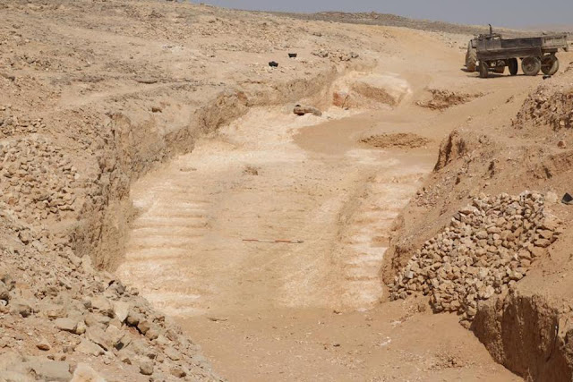 Ancient ramp used to transport massive stone blocks by Egypt's pyramid builders discovered