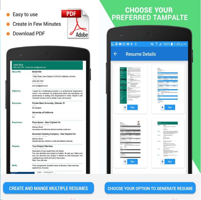 تطبيق لتصميم السيرة الذاتية Cv بطريقة احترافية في هاتفك مهووس في الربح