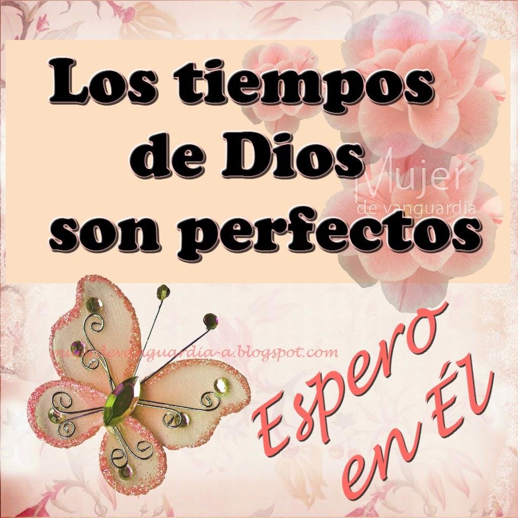 Los tiempos de Dios son perfectos espero en El