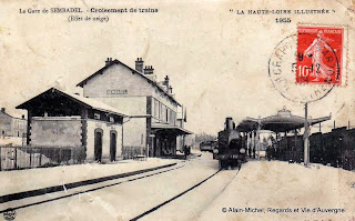 la neige en haute-Loire, cpa neige gare de Sembadel