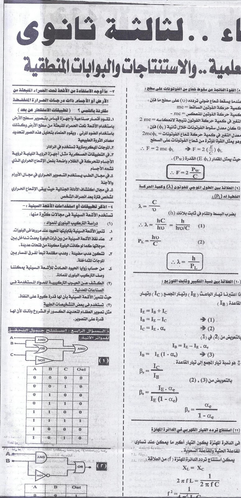 توقعات امتحان بكرة .. فيزياء ثانوية عامة 2016  11