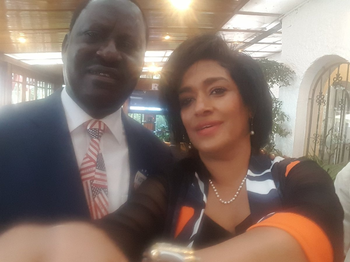 Image result for esther passaris and raila odinga a