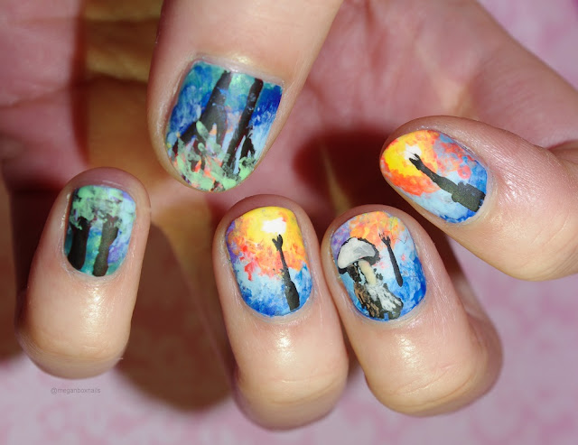 art inspired nails leonid afremov image