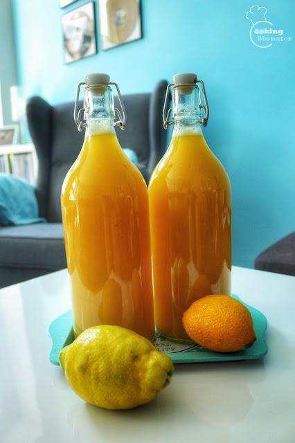 Lemoniada cytrusowa z miodem i miętą