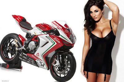 MV Agusta F3 800 with model HD Wallpaper