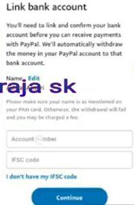 Paypal me Bank account kaise link kare