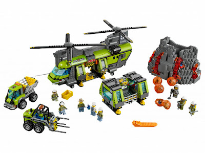 TOYS : JUGUETES - LEGO City 60125 Volcán : Helicóptero de transporte pesado  Volcano Heavy-Lift Helicopter Producto Oficial 2016 | Piezas: 1277 | Edad: 8-12 años Comprar en Amazon Espña & buy Amazon USA