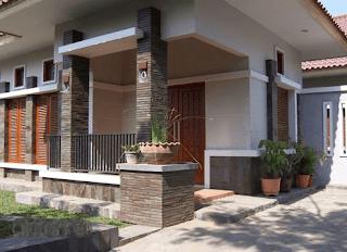 Teras depan rumah minimalis terbaru