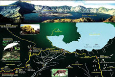 Rinjani Trekking Map
