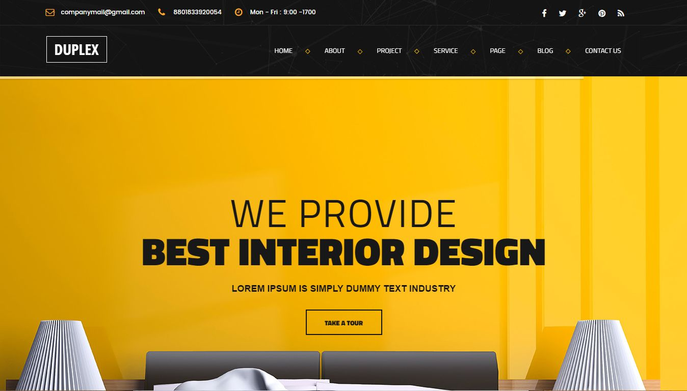 1. Duplex U2013 Interior Design HTML5 Template