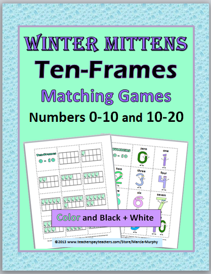 http://www.teacherspayteachers.com/Product/Winter-Mittens-Ten-Frames-Matching-Games-Numbers-0-10-and-10-20-521867