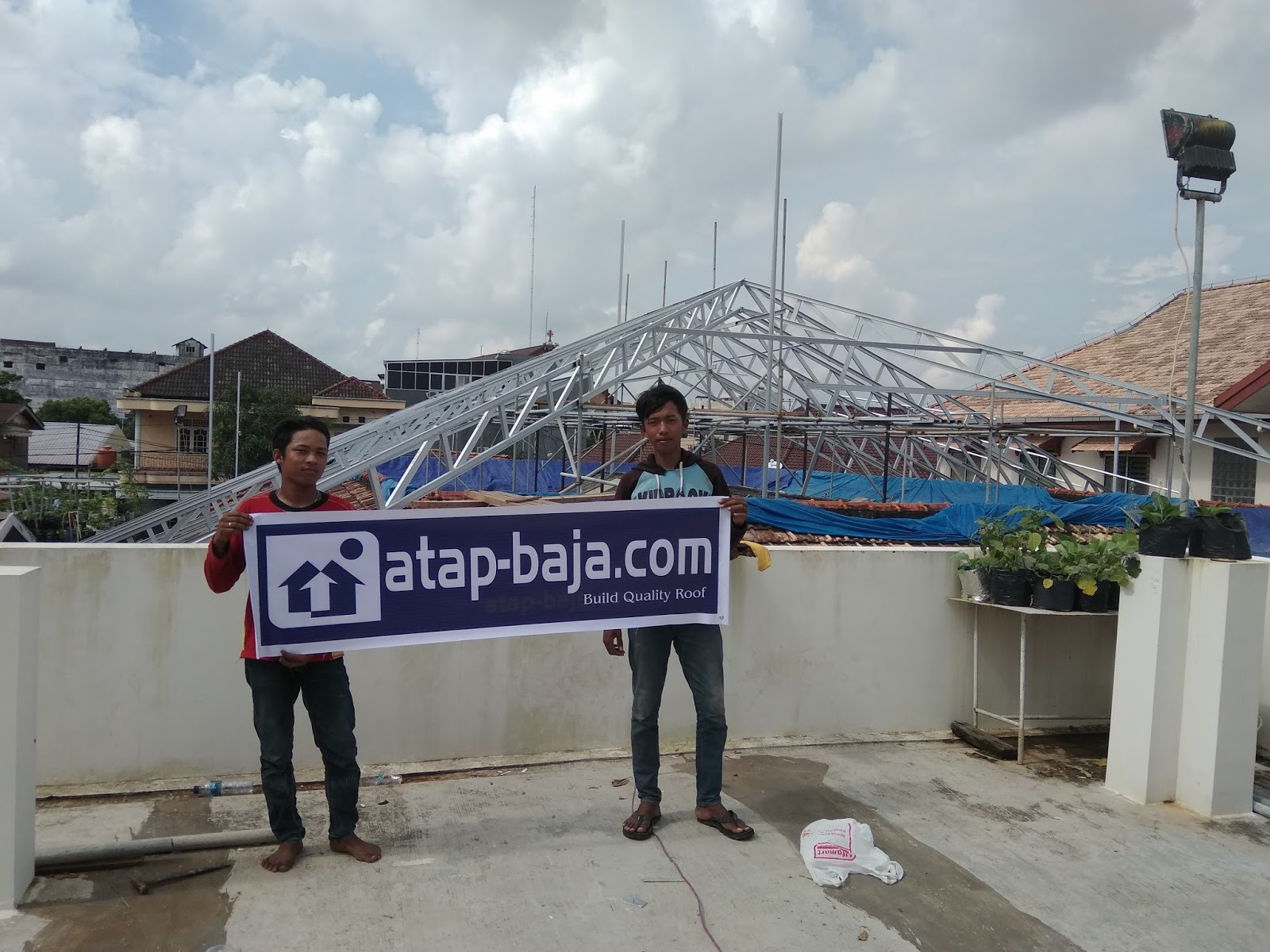 Harga Baja Ringan Juli 2018 Pasang Di Palembang Rangka Dan Gypsum
