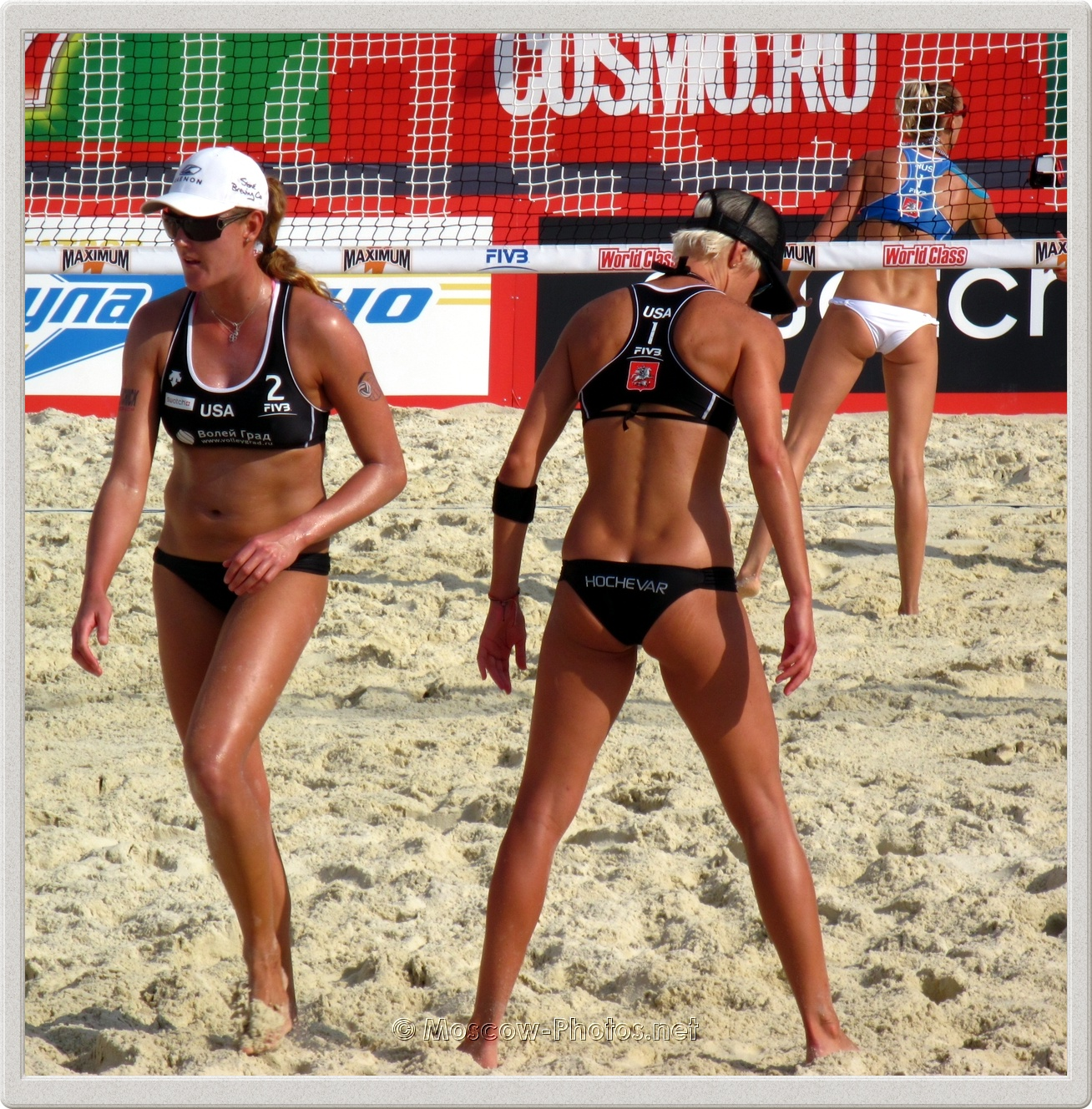 USA beach volley team after loss of a point