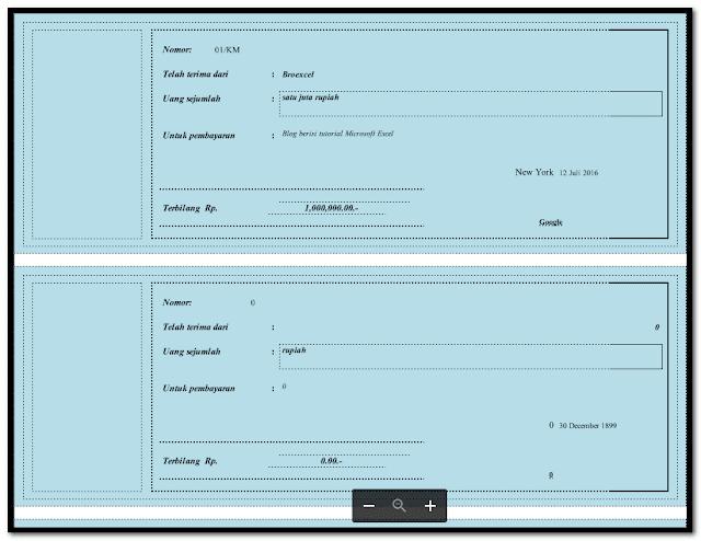 Aplikasi Cetak 100 Lembar Kwitansi Excel Serba Otomatis