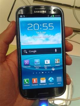 Galaxy S III na cor grafite