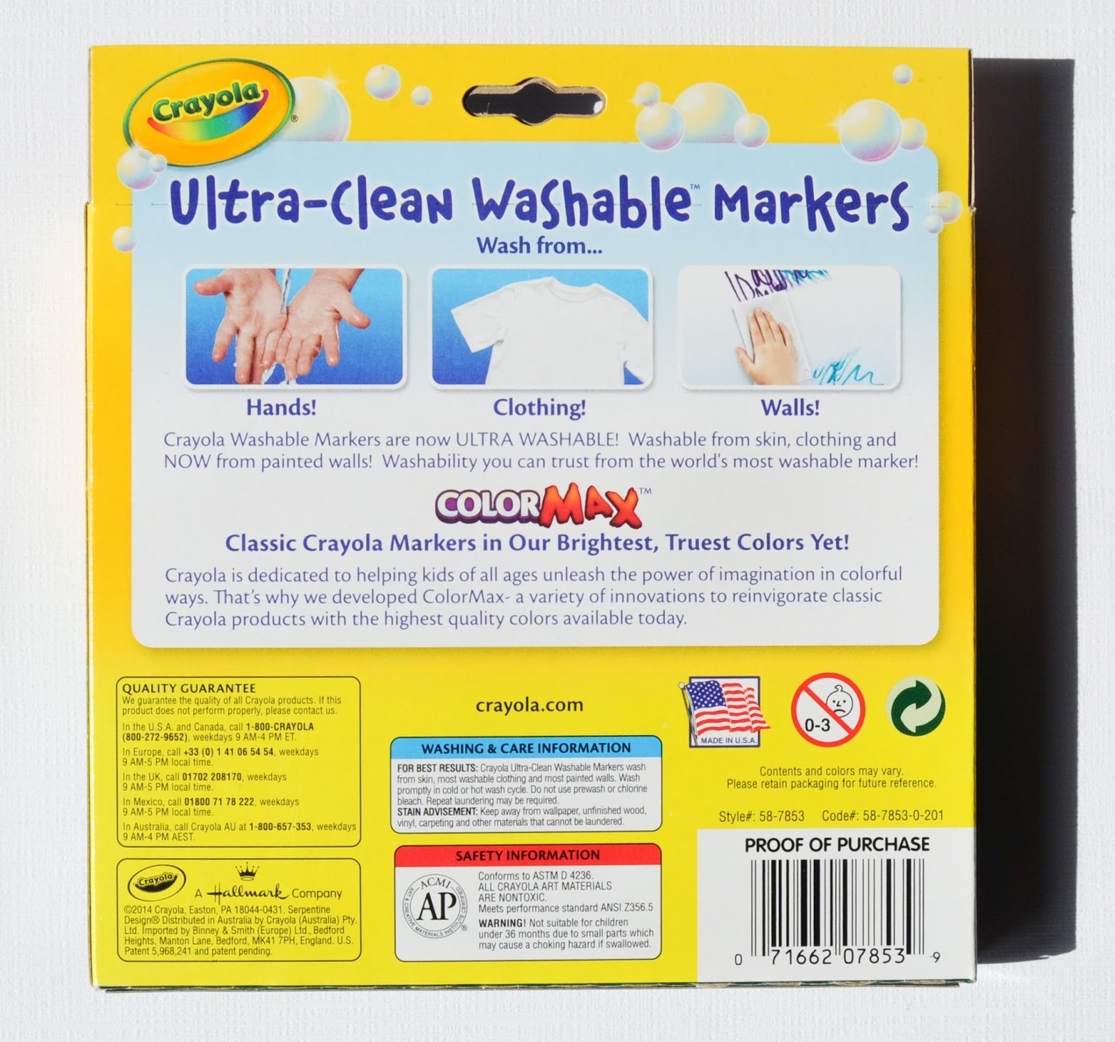 Crayola Ultra Clean Washable Markers Color Max What S Inside The Box Jenny S Crayon Collection