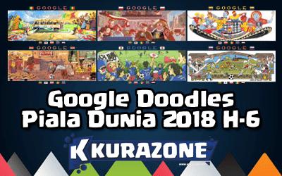 Google Doodles - Piala Dunia 2018 H-6