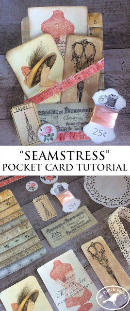 How to create a pocket card for a junk journal