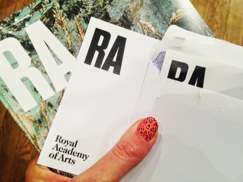tickets to the royal academy of art and leopard print nails